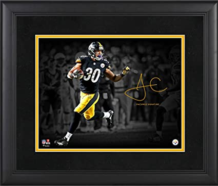 James Conner Pittsburgh Steelers Framed 11 quot  x 14 quot  Spotlight  Photograph - Facsimile Signature - bbf8b5023
