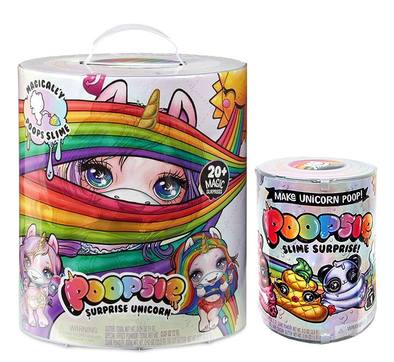 JGT Poopsie Slime Surprise Unicorn Slime Surprise Slime (1) Ozzy Unicorn Headband (1) Ozzy Plush Poop Emoticon - Bundle of 4