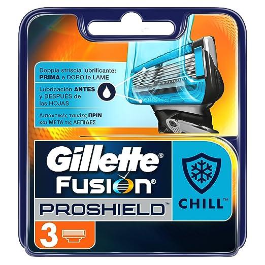 62 opinioni per Gillette Fusion ProShield Chill Ricarica di Lame per Rasoio, 3 Testine