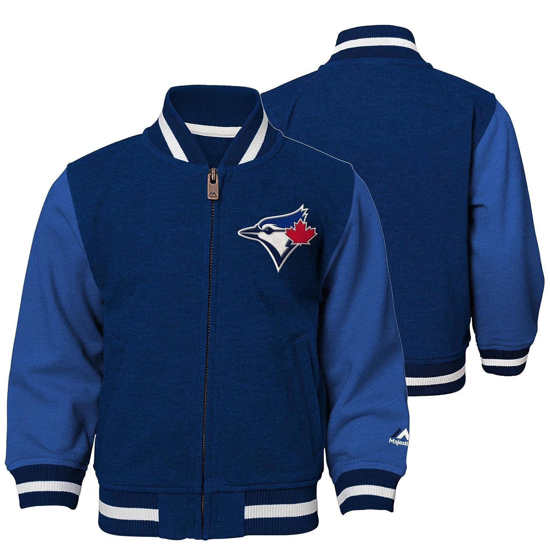 Toronto Blue Jays Infant Baseball Full-Zip Varsity Jacket Majestic