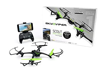 Sky Viper App >> Sky Viper Scout Streaming Video Drone Black Green