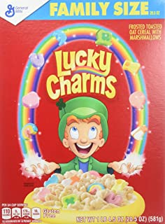Lucky Charms, 20.5 Ounce Family Size (Pack of 2)