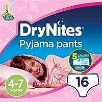 Dry Nites Braguitas Absorbentes para Niñas, 4-7 años
