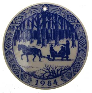 Amazon.com: Royal Copenhagen 1984 Christmas Ornament Plate ...