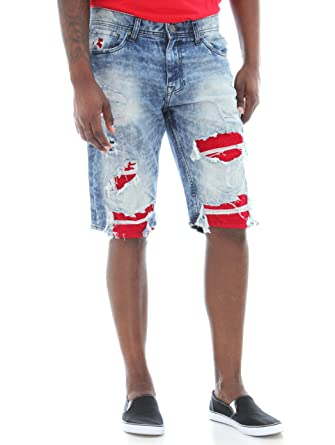 cf5f89f80d2 Jordan Craig Men's Ripped with Sueded Backing Denim Shorts at Amazon Men's  Clothing store: