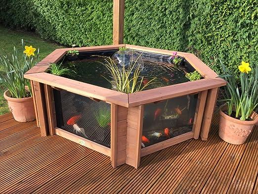 Clear View Garden Aquarium Estanque Elevado para Acuario de jardín con Filtro UV y Fuente, Paquete Elevado para estanques: Amazon.es: Jardín