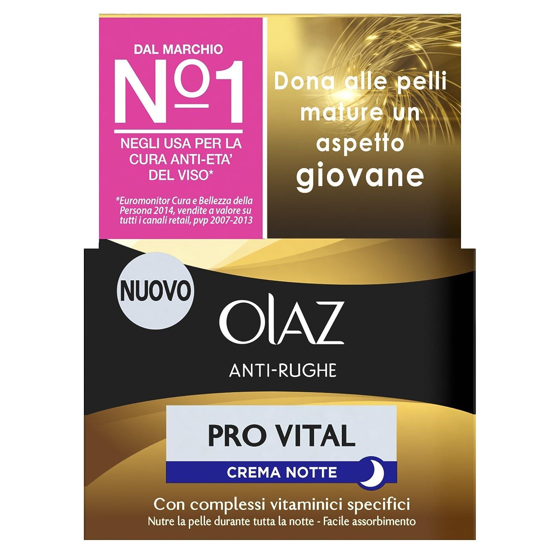 Olaz Pro Vital Crema Notte Idratante Anti-Rughe e Anti-Età, 50ml Procter & Gamble