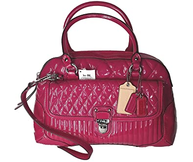 amazon com coach poppy liquid gloss satchel bag shoes rh amazon com