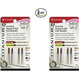 Singer Titanium Universal Reg and Ball Point Machine Needles Combo Pack, 2 PACKS of 8-Needles Per Pack