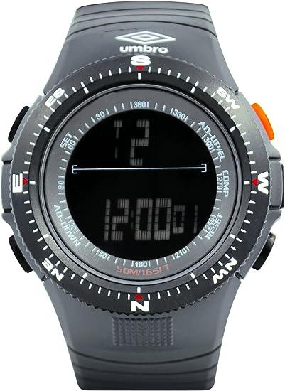 Umbro umb-05 - 1 Unisex ABS gris, bisel de ABS 50 mm caso Digital movimiento Miyota 2025 precisión electrónica movimiento resistente al agua 5 ATM Reloj ...