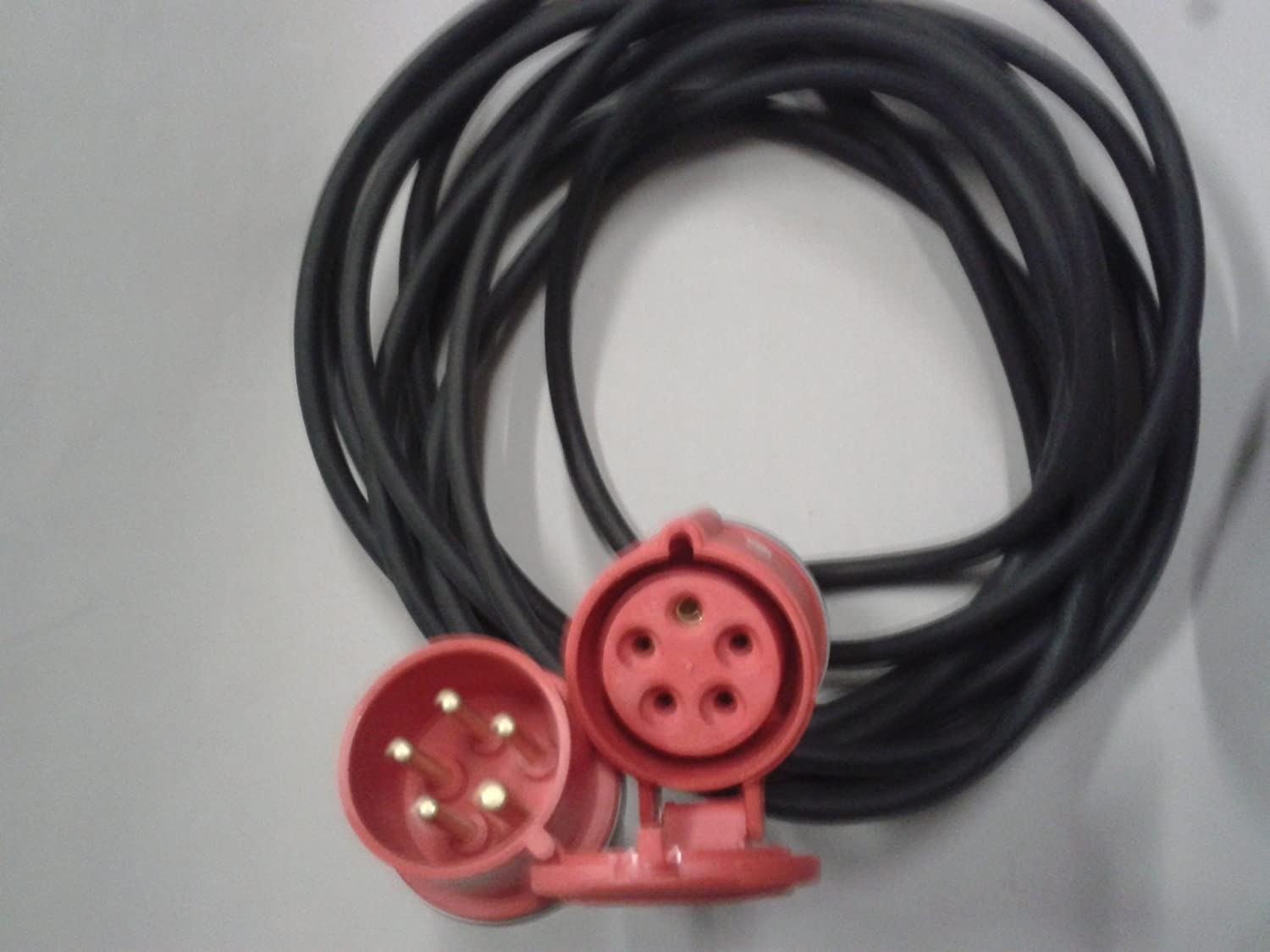 10 Metre 400 Volt 3 Phase 3PH 5 Pin Extension Connection ... on