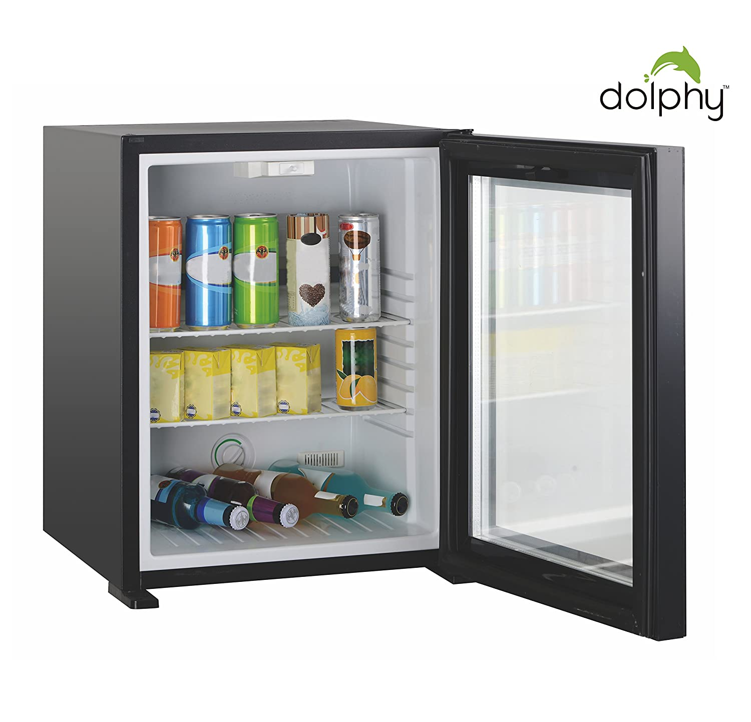 Dolphy 50 Liter Glass Door Absorption Mini Bar Without Compressor