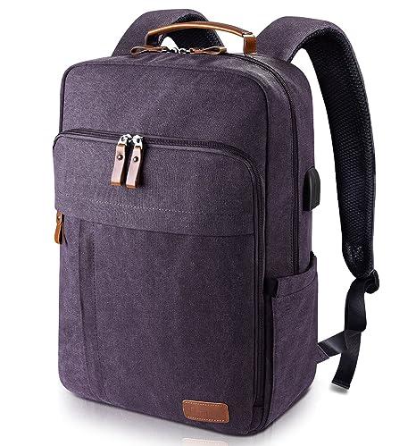 ab41494a5ead Amazon.com  Estarer Laptop Backpack w USB Charging Port for Men ...