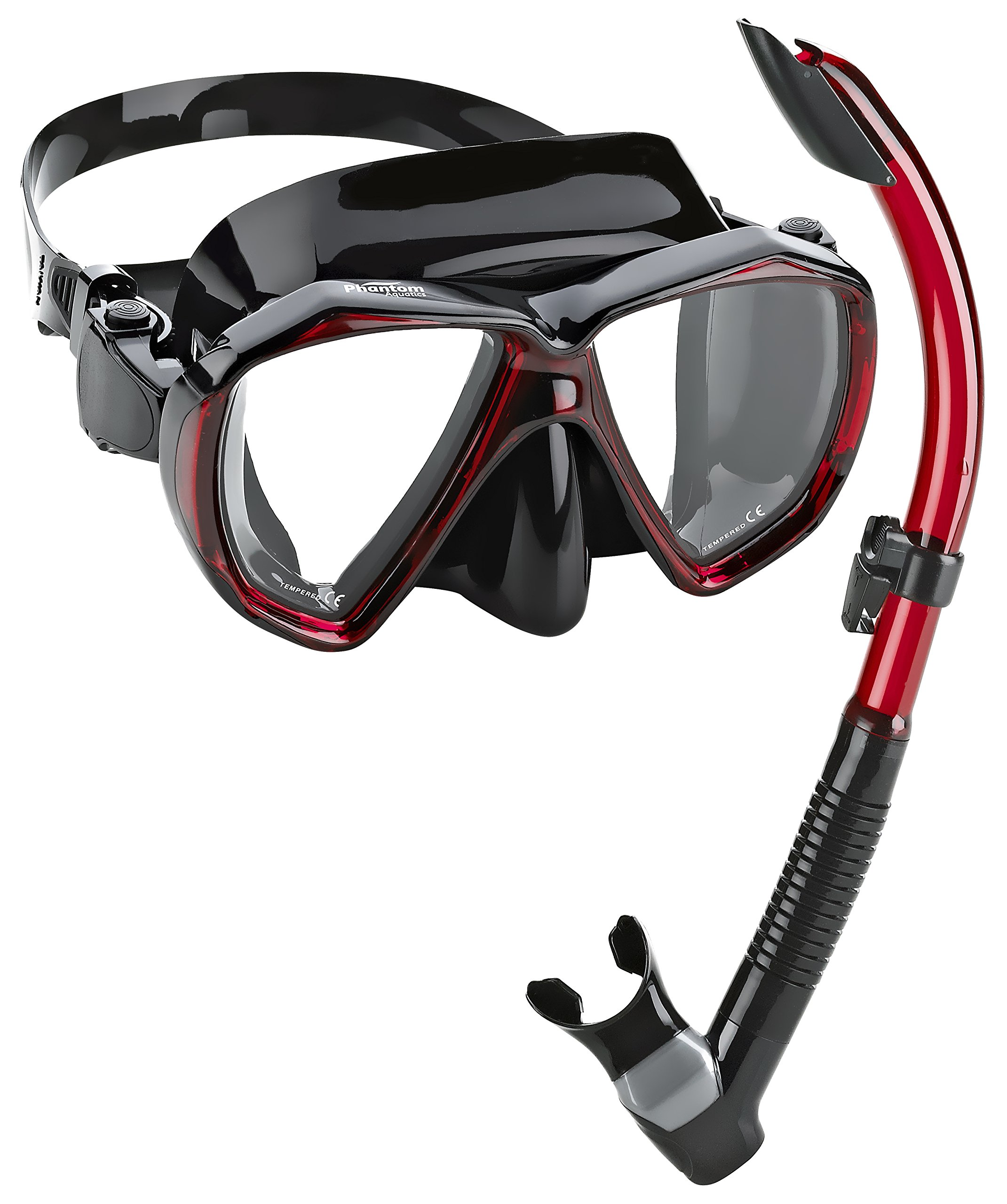 Phantom Aquatics Velocity Scuba Snorkeling Mask Snorkel Set by Phantom Aquatics
