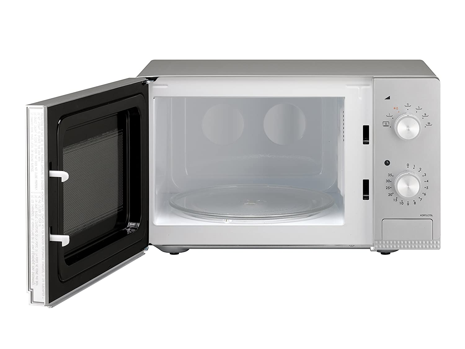 Daewoo KOR7LC7SL Manual Microwave Oven, 20 Litre, Silver: Amazon.co.uk:  Kitchen & Home