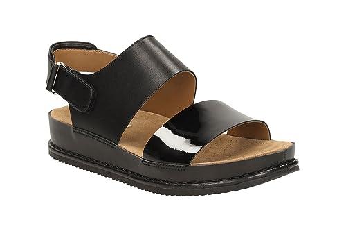 b15161f3d Clarks Women s Alderlake Sun Black Leather Fashion Sandals - 3.5 UK India  (36 EU