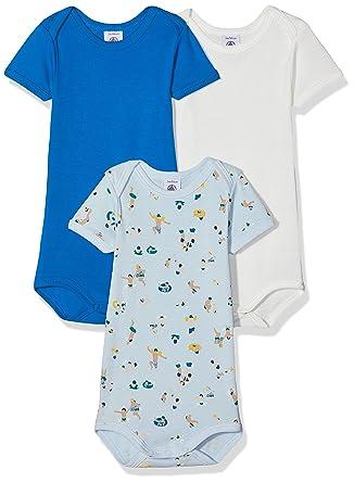 e96fb05ecf0d8 Petit Bateau Body Bébé garçon (Lot de 3)  Amazon.fr  Vêtements et  accessoires