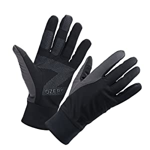 OZERO Bike Gloves for Men, Winter Warm Touch Glove for Smart Phone Texting with Non-Slip Silicone Gel