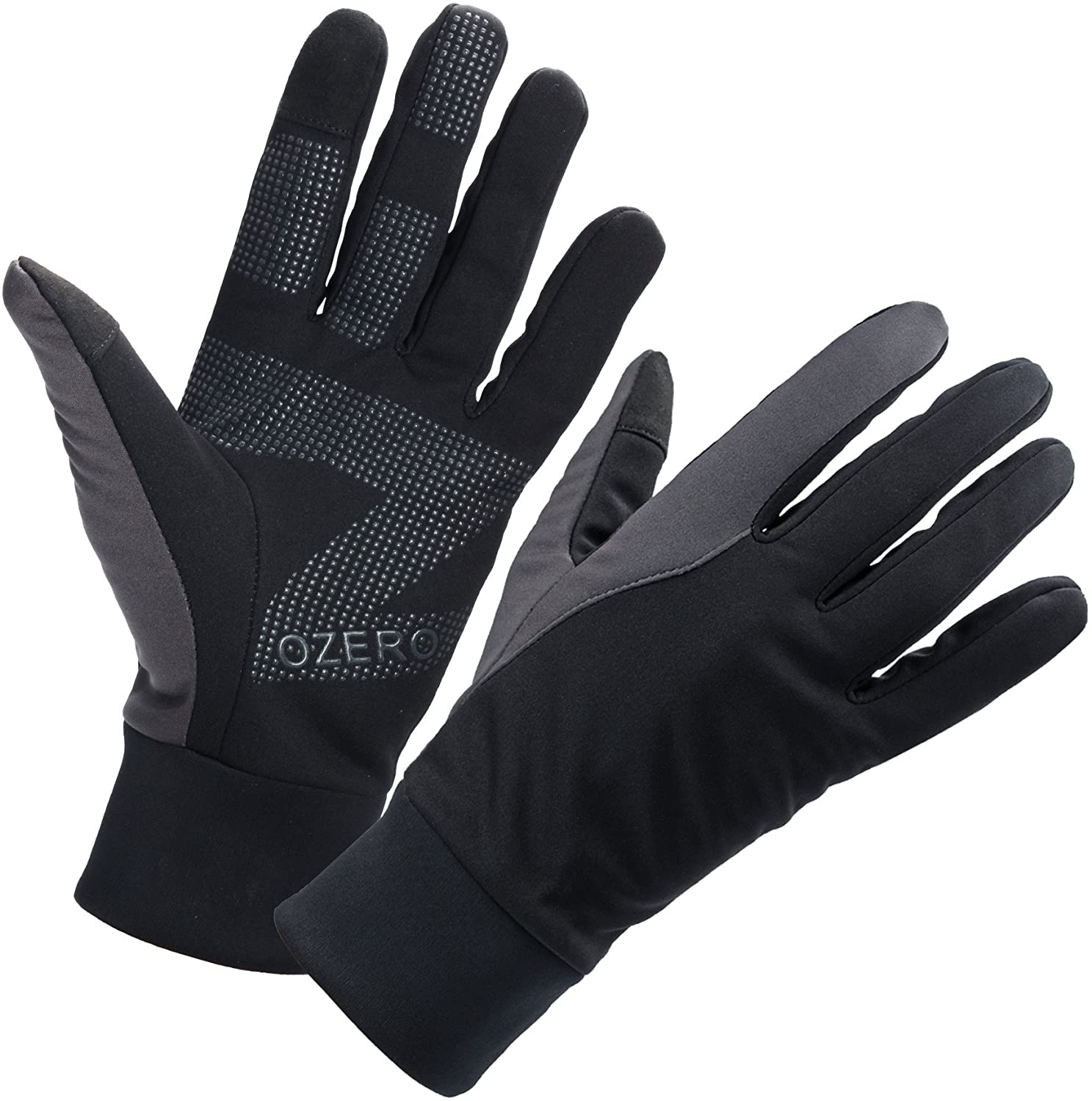 Winter Windproof Men/'s White Gloves Formal Parade Guard Polyester Gloves Running Driving Cycling Outdoor Thermal Touchscreen Gloves