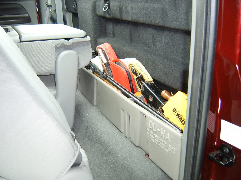 Part #20067 DU-HA Under Seat Storage Fits 03-16 Ford F-250 thru F-550 Super Duty Crew Black
