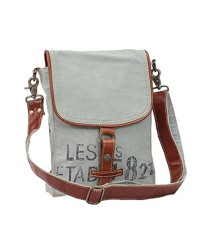 273fa63b4a59 Myra Bags 821 Upcycled Canvas Crossbody Bag M-0914: Handbags: Amazon.com