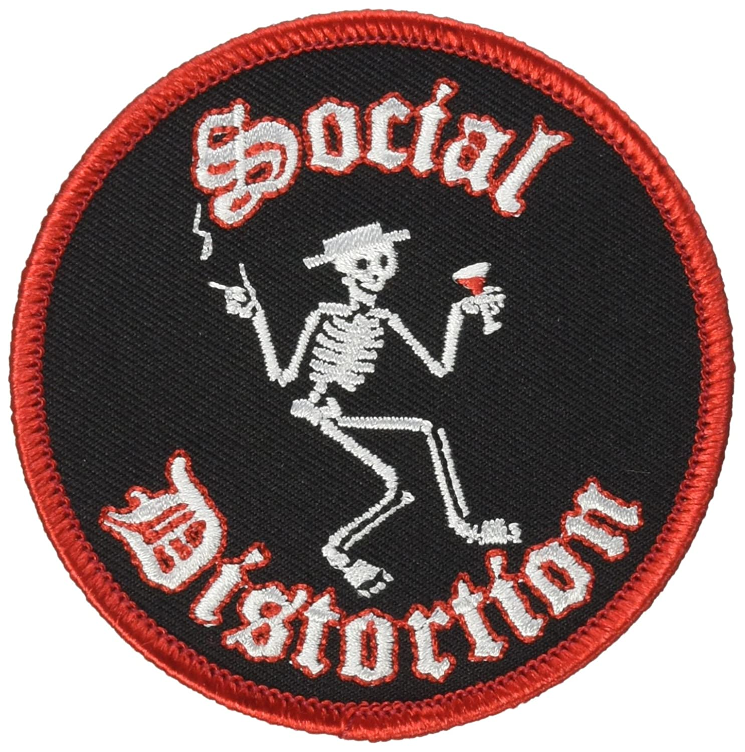 SOCIAL DISTORTION Skeleton PATCH, Officially Licensed Products Classic Rock Artwork, Iron-On / Sew-On, 3