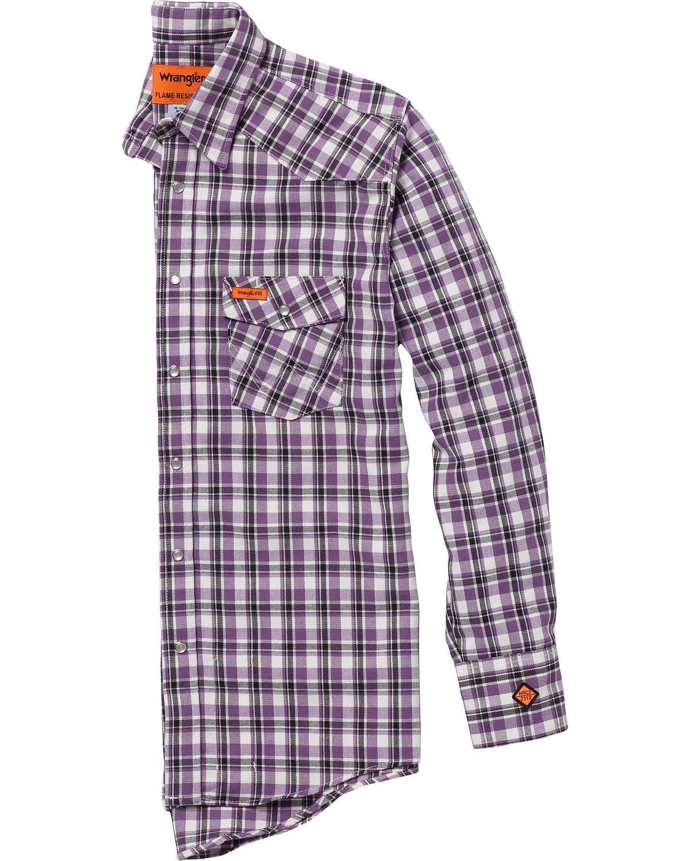 Wrangler Men's Purple Fr Lightweight Work Shirt Purple X-Large