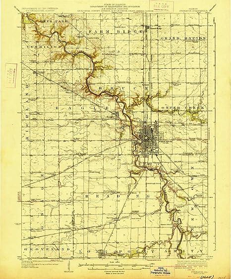 Streator Illinois Map.Amazon Com Yellowmaps Streator Il Topo Map 1 62500 Scale 15 X 15