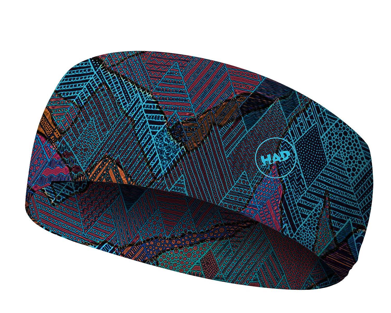 UPF 40 + one size blau//rot k/ühlend HAD COOLMAX Stirnband Berge Polyester