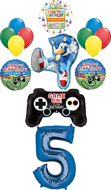 SONIC HEDGHOG CUPCAKE TOPPERS CAKE PARTY BIRTHDAY SUPPLIES BALLOONS