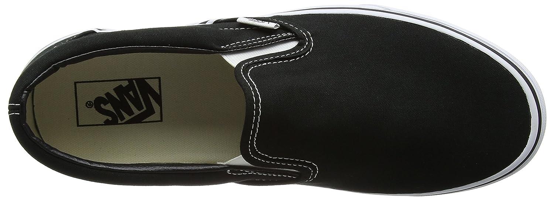 Vans Unisex Classic (Checkerboard) Slip-On Skate Shoe B000NSKN2Y 9.5 B(M) US Women / 8 D(M) US Men|Black (Canvas)