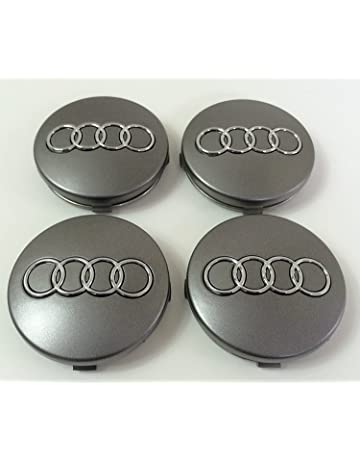 4 x tapones para tapacubos con logotipo de 60 mm para remaches de aleación