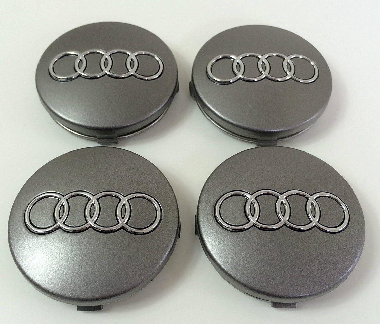 4 x tapones para tapacubos con logotipo de 60 mm para remaches de aleación: Amazon.es: Coche y moto