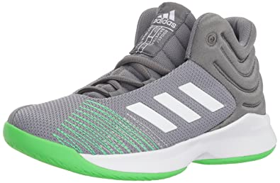 buy popular bb35e 7e0df adidas Unisex Pro Spark 2018 K Basketball Shoe, Grey Four White Shock Lime