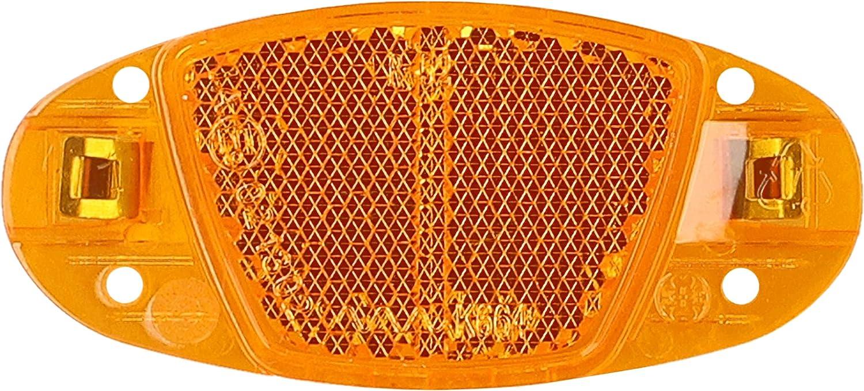 mumbi 4X Katzenaugen Speichen Reflektoren Fahrrad Speichenreflektoren orange StVZO