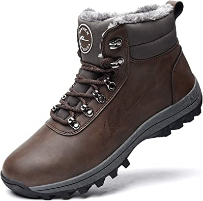 Cambat Ankle Work Shoes Suede Waterproof High Top Winter Snow Boot Short Boots for Adult Men /& Women