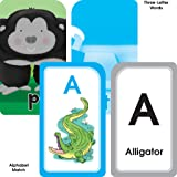 School Zone - Alphabet Flash Cards 4 Pack - Ages 3