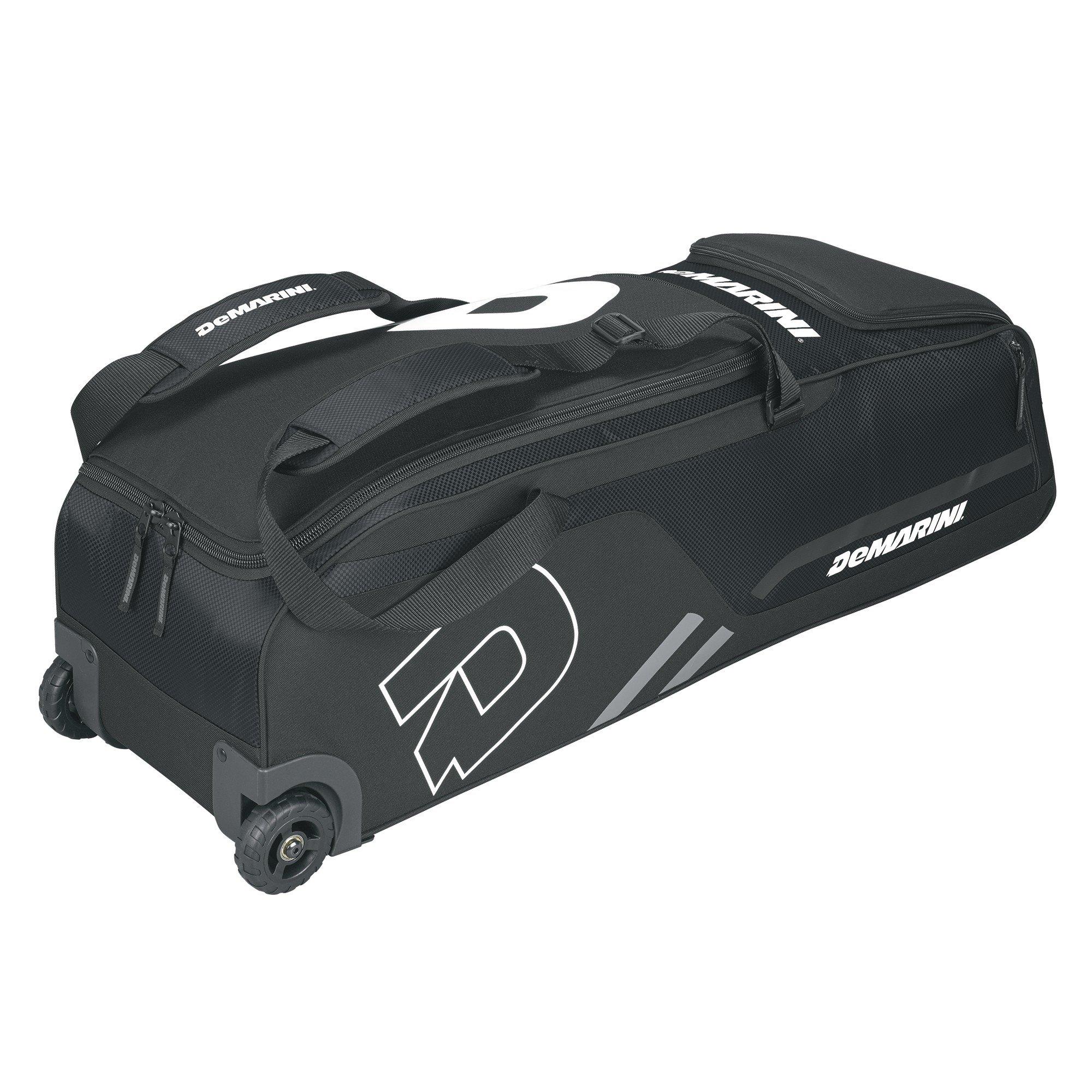 DeMarini Momentum Baseball Wheeled Bag-Black by DeMarini