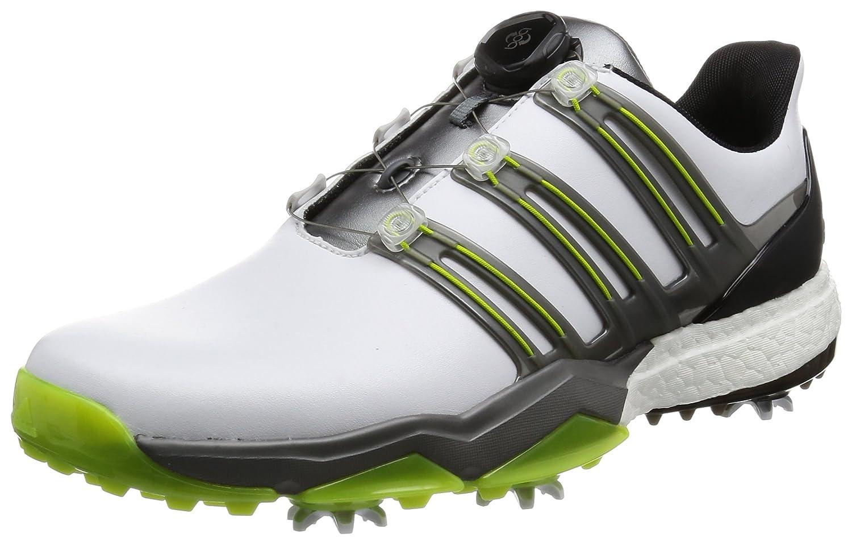 [アディダスゴルフ] ゴルフシューズ パワーバンド ボア ブースト powerband Boa boost B01N0OX1TO 28 3E ホワイト/アイアンメタリック/ソーラースライム