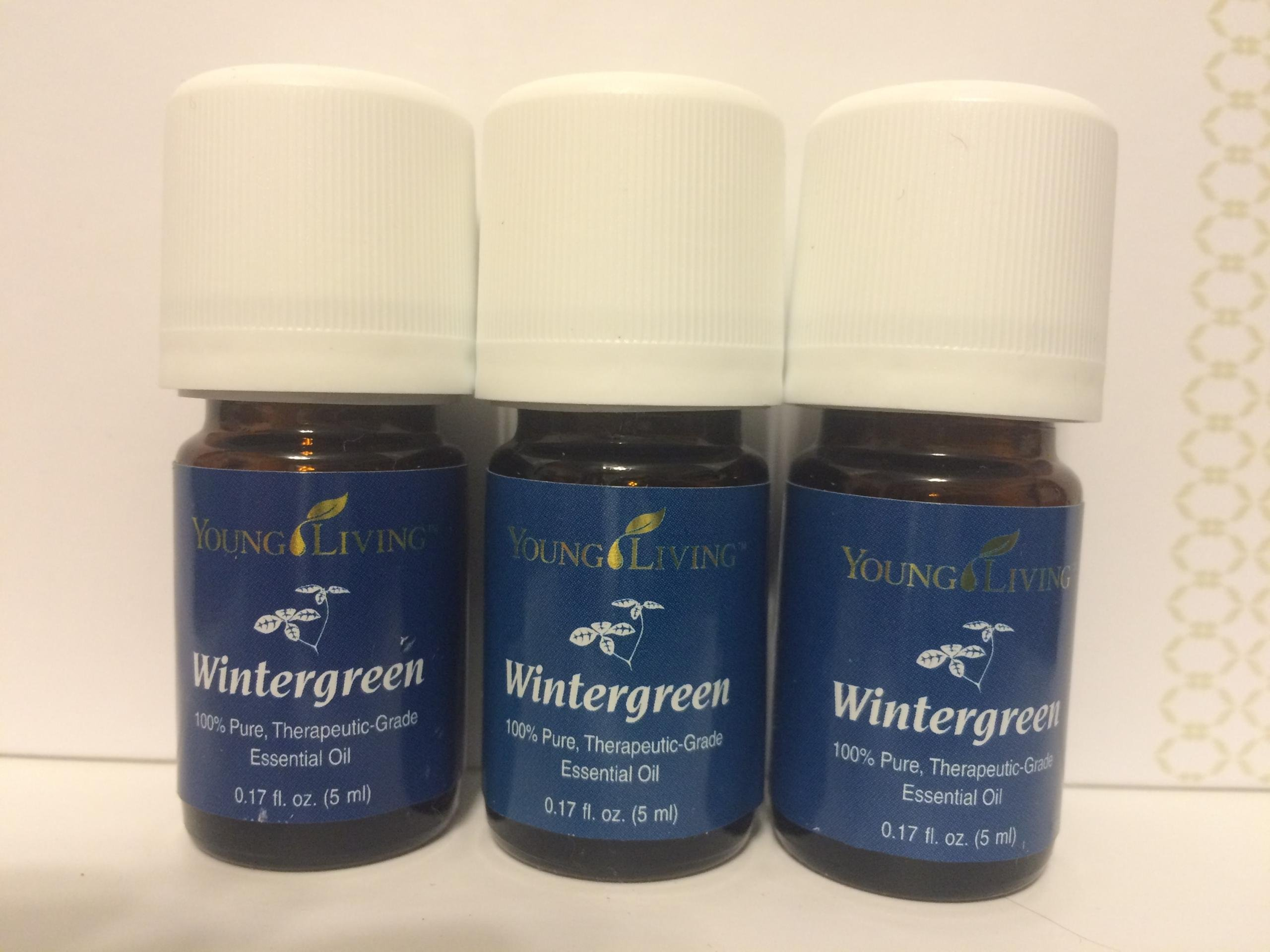 Wintergreen Essential Oil 3 pk of 5 ml bottles by Young Livin Essential Oil