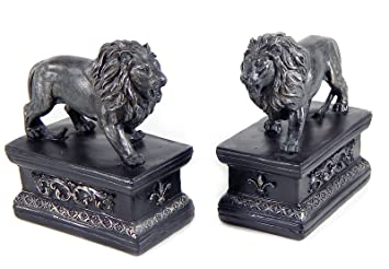 Decorative Bookends   Library Lion Bookends, Vintage Finished