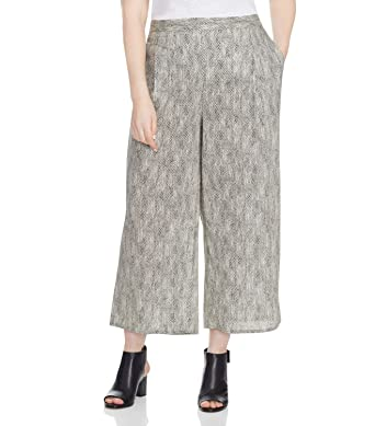 a2f9a623f79af Eileen Fisher Womens Plus Wide Leg Cropped Casual Pants at Amazon ...