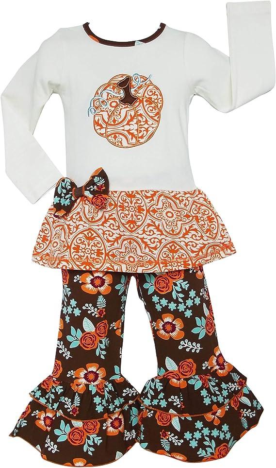 OUlike My 1st Nouvel an pour Nouveau-n/é Enfants Filles gar/çons Tops Floral Pants 4 PCS V/êtements Tops Pantalons Pantalons Pantalons Chapeau Bandeau