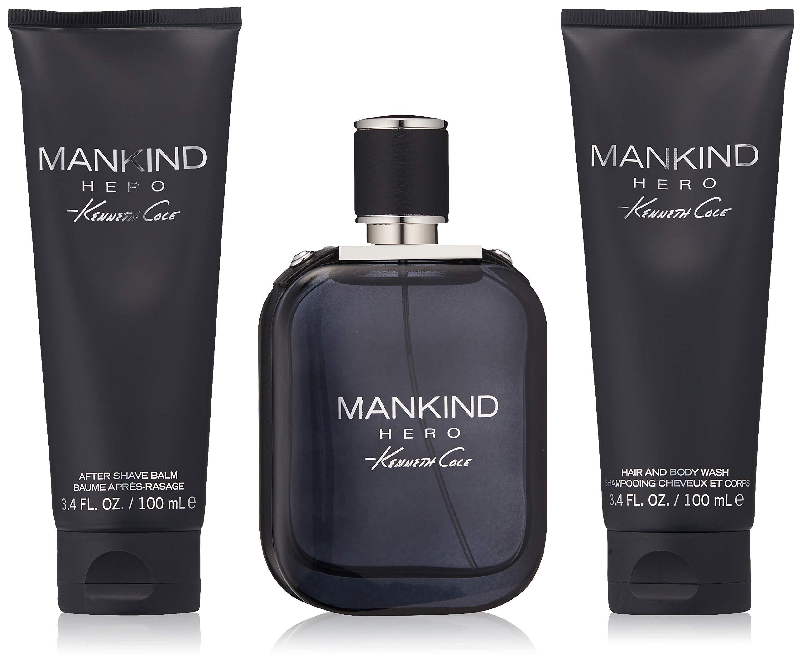 Kenneth Cole 3 Piece Mankind Hero Gift Set, 3.4 Oz.