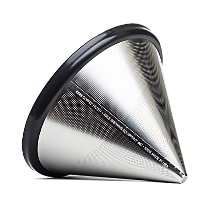 Able Brewing Kone Coffee Filter for Chemex Coffee Maker - stainless steel reusable - made in USA Coffee, Tea & Espresso at amazon