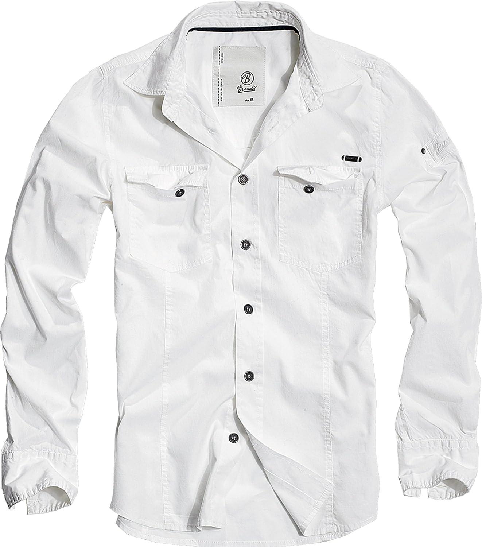Brandit Uomo SlimFit Camicia Woodland