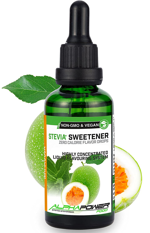 ALPHA POWER FOOD: Stevia líquida natural - Stevia Gotas de maracuyá, Edulcorante natural, sustituto del azúcar con sabor - sin azúcar & calorías: Amazon.es: ...