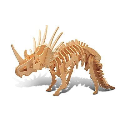 Puzzled 1234 1234 3D Styracosaurus, Wood, One Size: Toys & Games