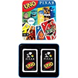 UNO Pixar 25th Anniversary Card Game with 112 Cards & Instructions in Storage Tin for Players 7 Years & Older, Gift for…
