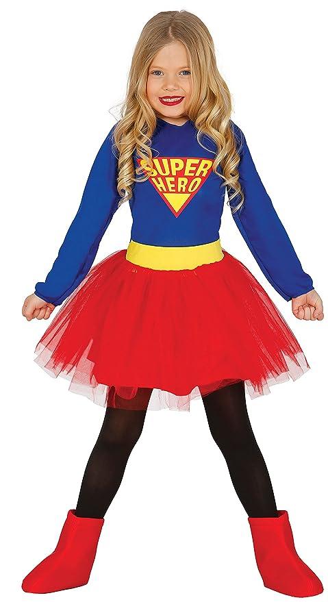 stile classico moda più desiderabile fascino dei costi Costume vestito Supergirl supereroe carnevale bambina taglia 5-6 anni